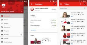 تطبيق YouTube studio لادارة قنوات يوتيوب