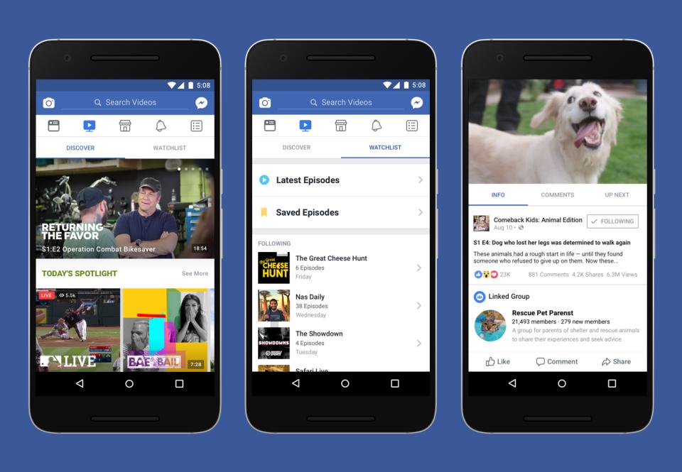 فيسبوك تطلق منصة Watch