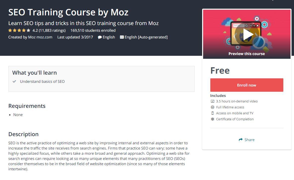 برنامج MOZ لتحسين محركات البحث