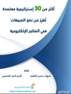 Book Cover: كتاب في التجارة الالكترونية - 30 إستراتيجية تعزز من نمو المبيعات 2020